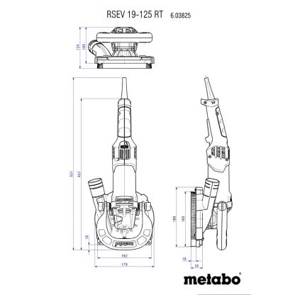 Metabo RSEV 19-125 RT betonihiomakone
